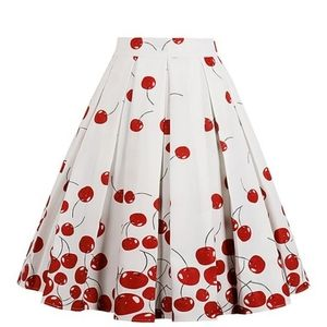 Dresses & Skirts - Red and white cherry skirt pinup style coming soon